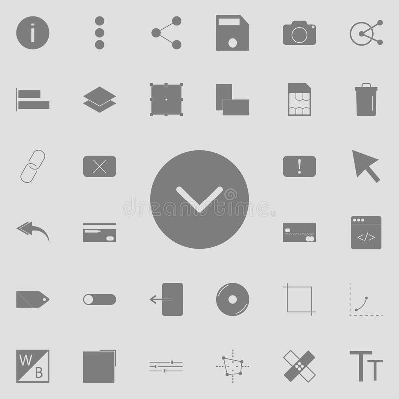 Check ok icon. Detailed set of minimalistic icons. Premium quality graphic design sign. One of the collection icons for websites,. Web design, mobile app on stock illustration