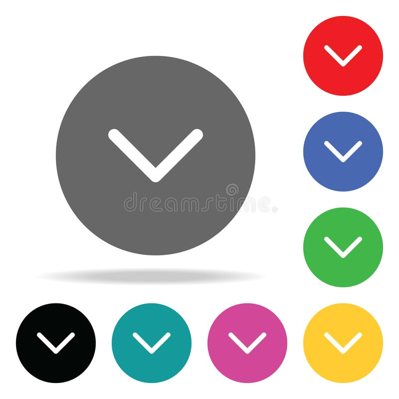 Check ok icon. Elements in multi colored icons for mobile concept and web apps. Icons for website design and development, app deve. Lopment on white background stock illustration