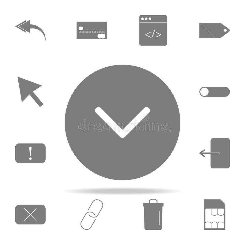 Check ok icon. web icons universal set for web and mobile. On white background stock illustration