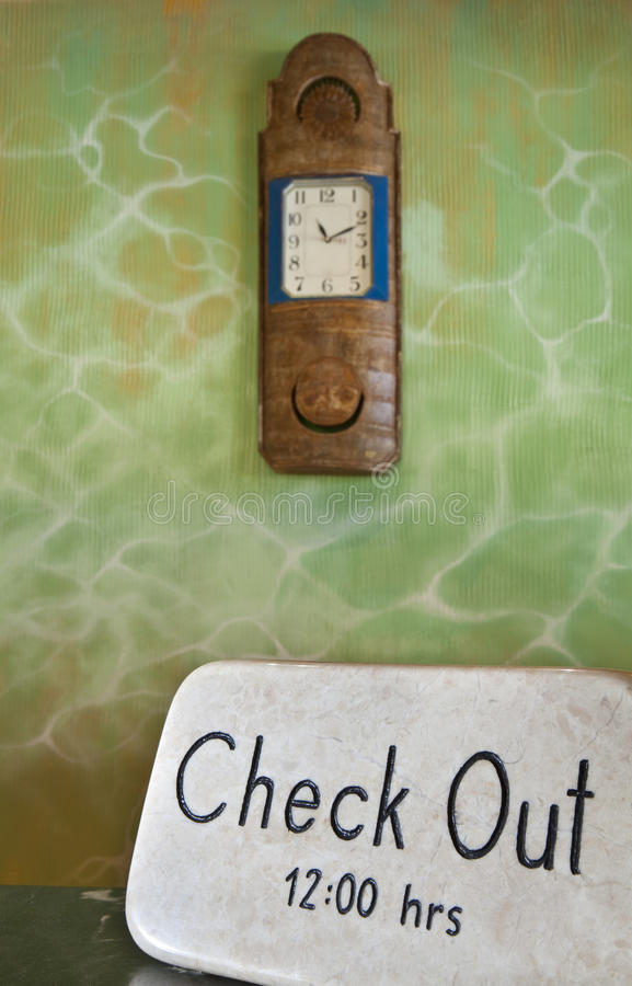 Check Out Time royalty free stock image