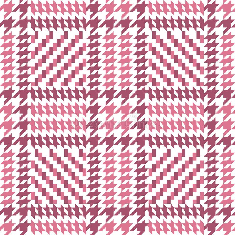 Check Pink Fashion Seamless Pattern. Check fashion tweed white and pink seamless pattern for fashion romantic textile prints, wallpaper, wrapping, fabric vector illustration