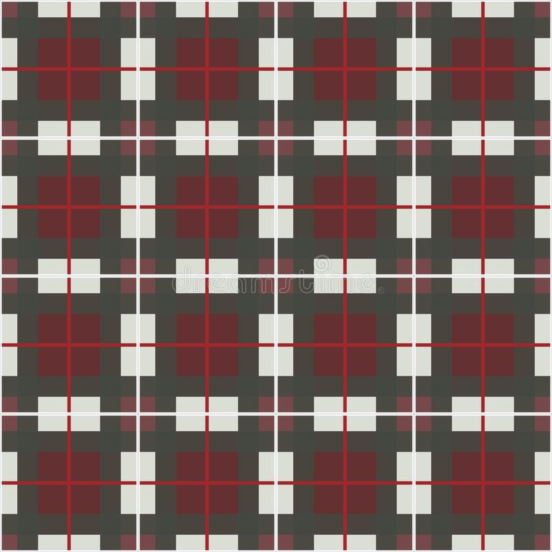 Check plaid texture seamless pattern. English check royalty free illustration