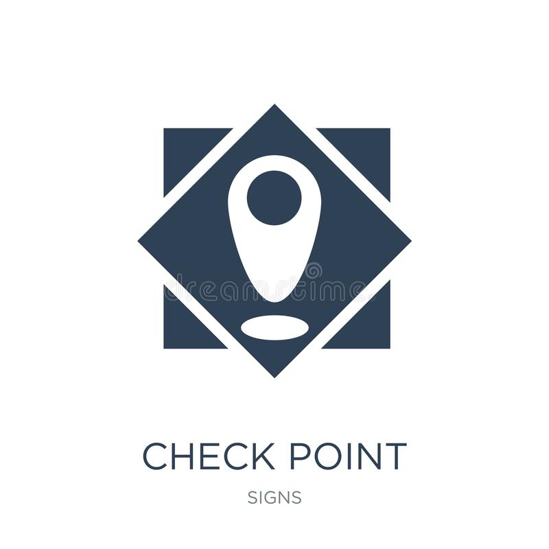 check point icon in trendy design style. check point icon isolated on white background. check point vector icon simple and modern vector illustration
