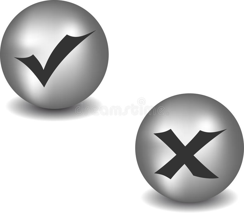 Download Check And Refuse Buttons Stock Images - Image: 22640404