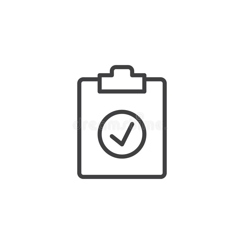 Check test line icon royalty free illustration