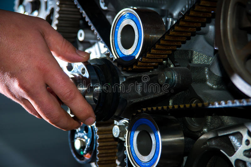Check the timing belt stock images