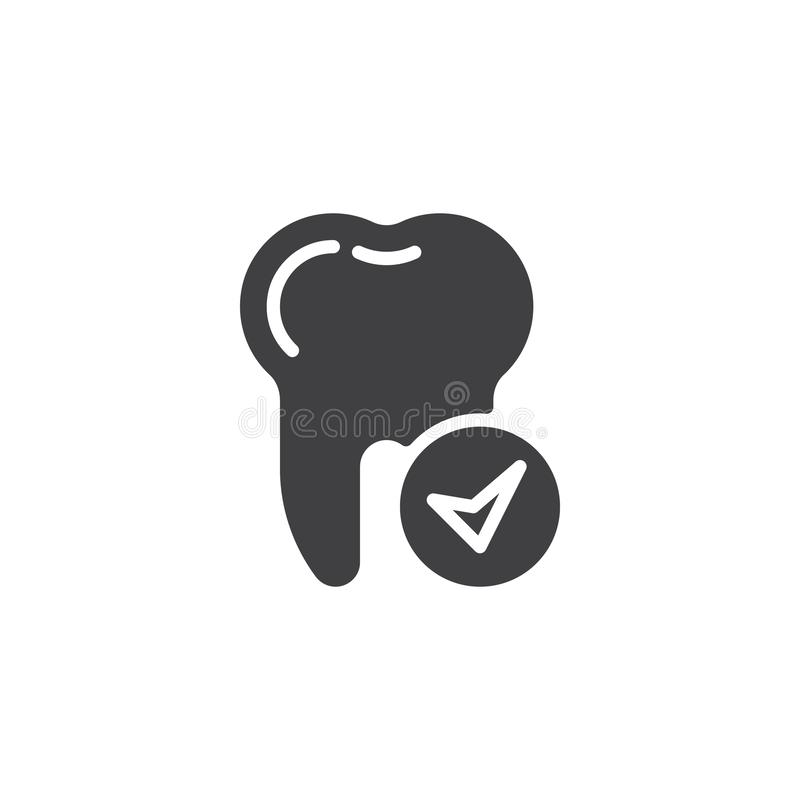 Check tooth vector icon royalty free illustration
