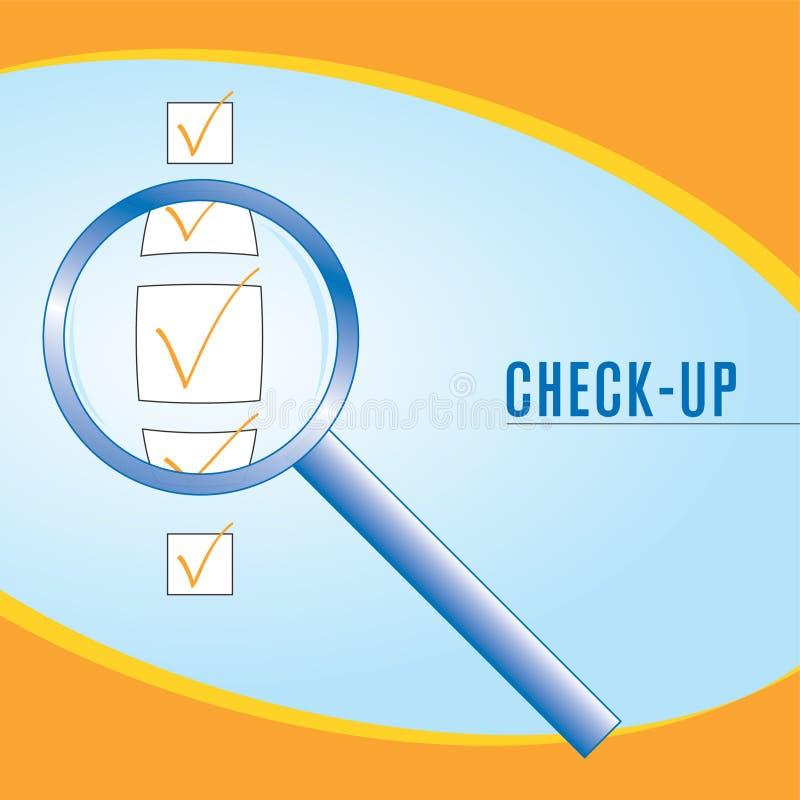 Check-up stock illustration