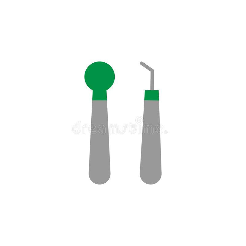 Check up and mirror icon. Element of Dental Care icon for mobile concept and web apps. Detailed Check up and mirror icon can be. Used for web and mobile on stock illustration