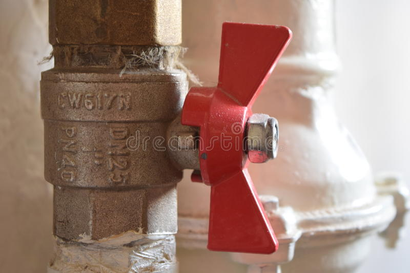 The check valve. royalty free stock photo