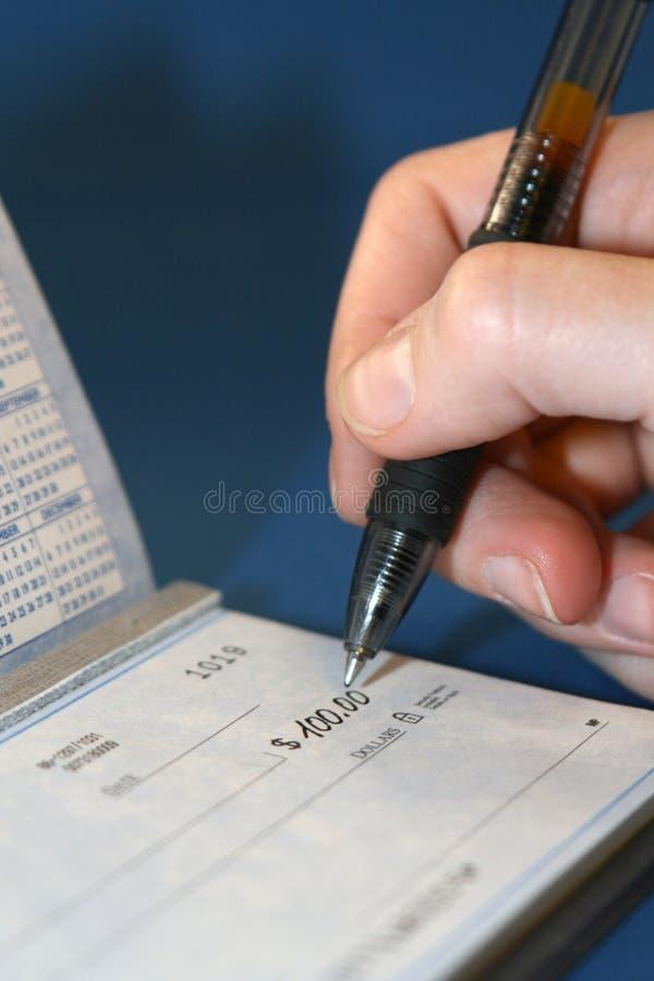 Check Writing royalty free stock photos