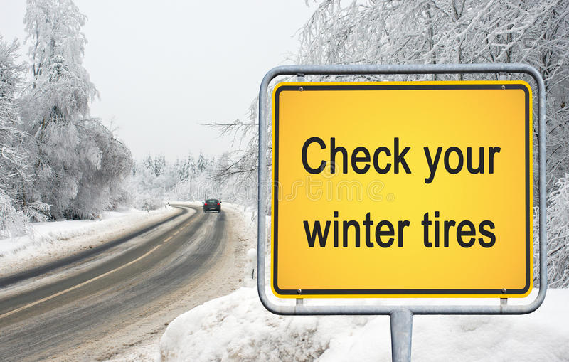 Check your winter tires stock image