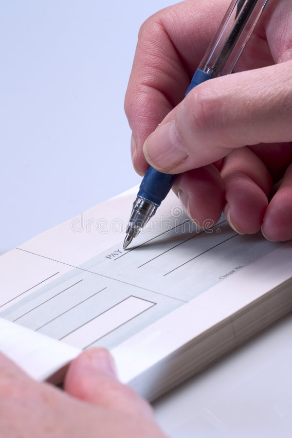 checkbetalning arkivfoto