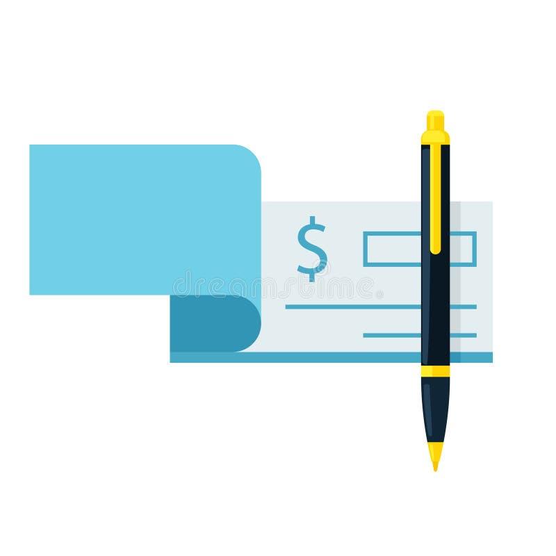Checkbok och pennsymbol vektor illustrationer