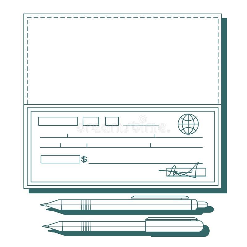 Checkbok på vit bakgrund royaltyfri illustrationer