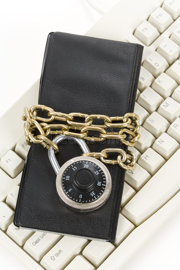 Download Checkbook And Computer Keyboard Royalty Free Stock Photos - Image: 7428658
