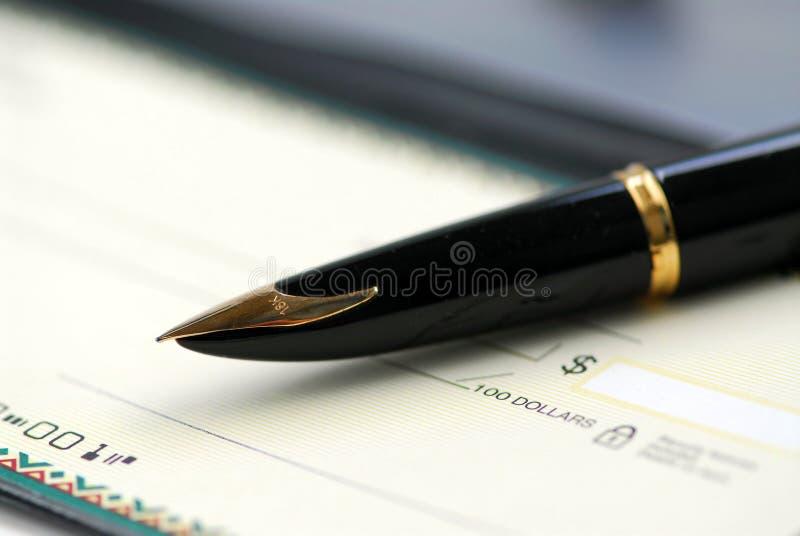 checkbook pen стоковые изображения