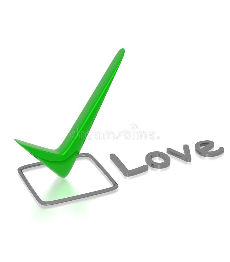 Checkbox With Green Checkmark Royalty Free Stock Image