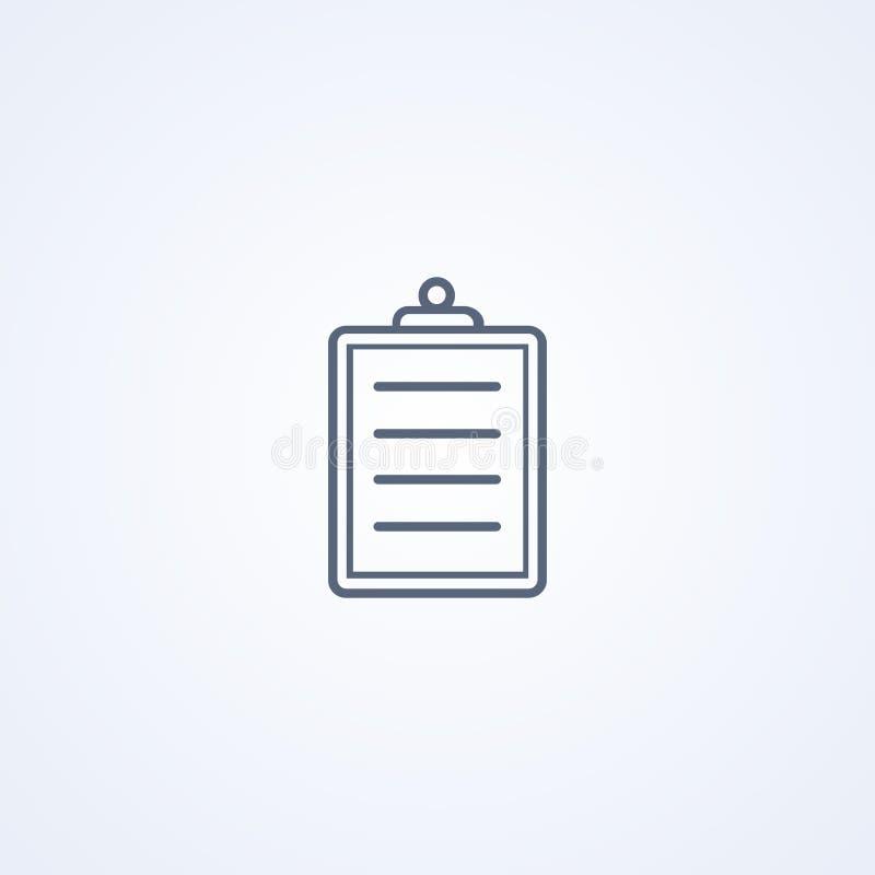 Checkbox médico, forma médica, la mejor línea icono del vector stock de ilustración