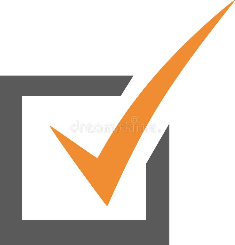Checkbox vector icon. Checkbox vector symbol - ok, checked, list element, bullet point in presentations royalty free illustration