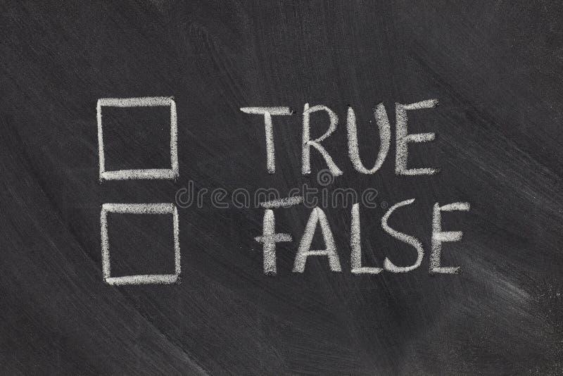 Checkboxes verdadeiros ou falsos fotos de stock royalty free