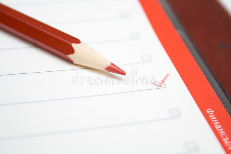 Checked checkbox royalty free stock photography