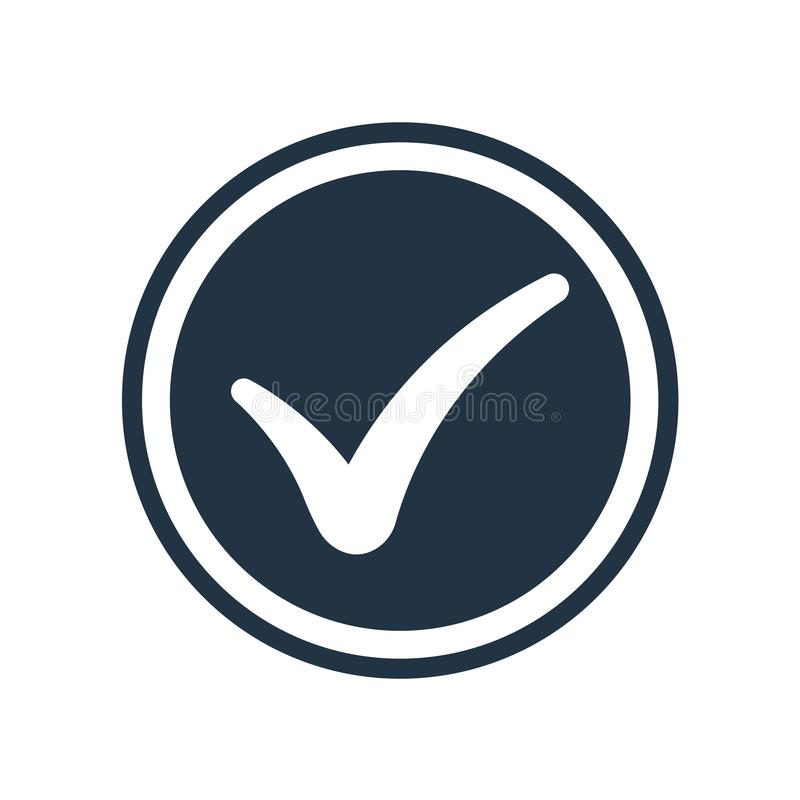 Checked icon vector isolated on white background, Checked sign vector illustration