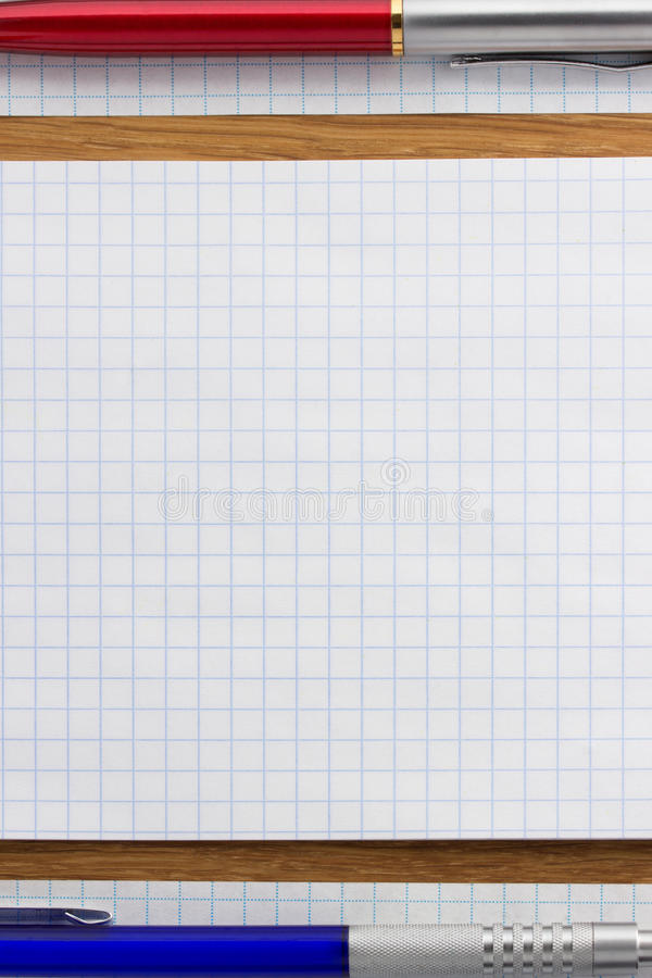Download Checked note paper on wood stock photo. Image of notepad - 39503804
