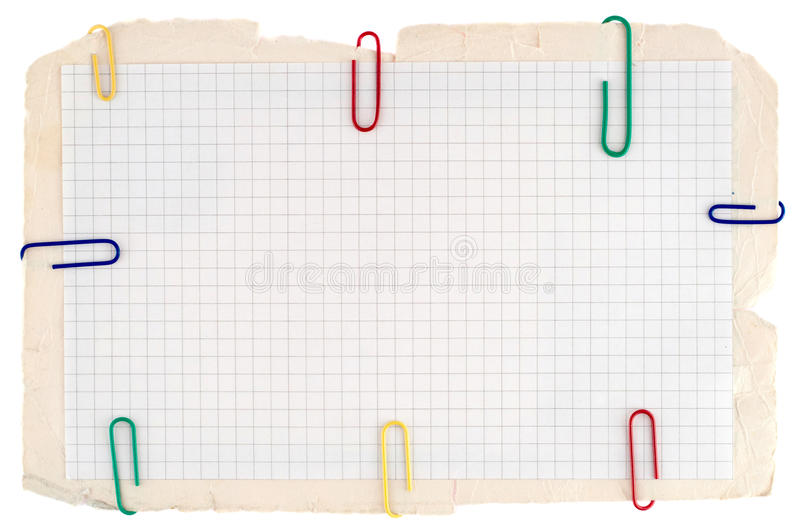 Download Checked notebook paper stock photo. Image of object, document - 15309182