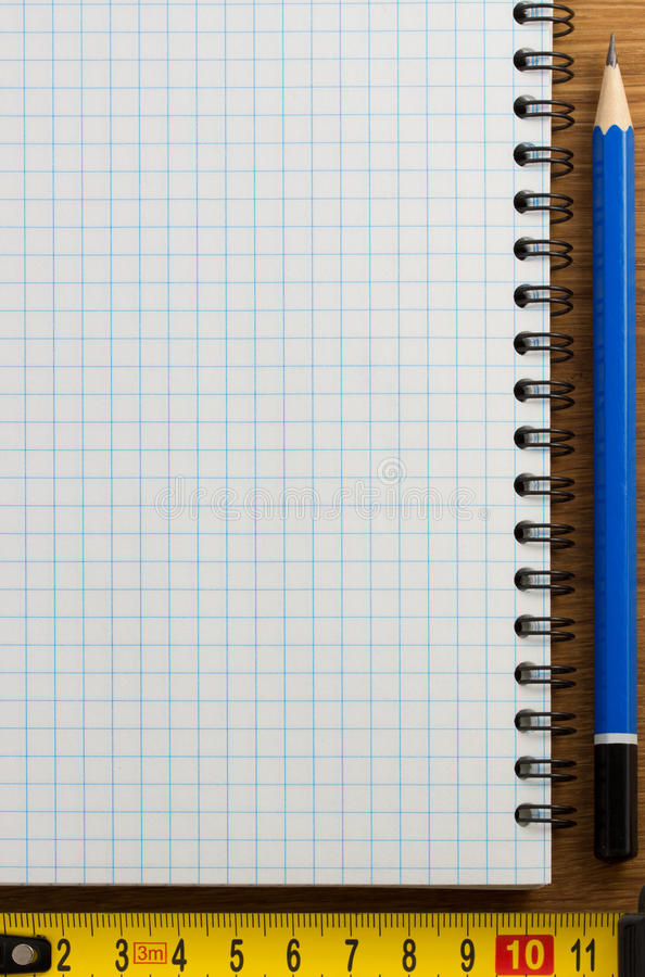 Download Checked notebook on wood stock image. Image of book, back - 39503815