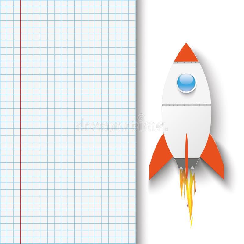 Checked Paper Rocket stock illustration
