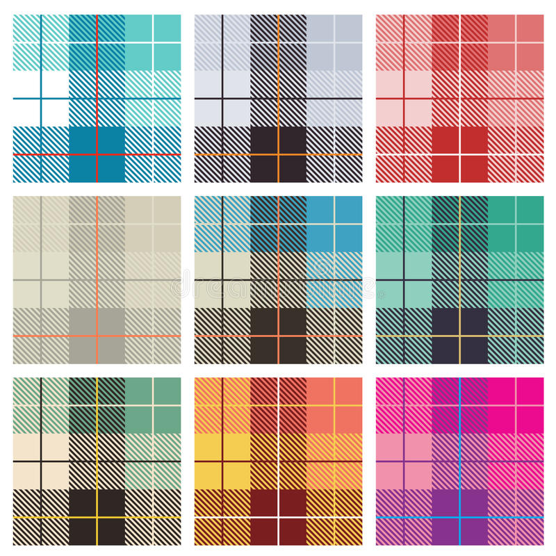 Download Checked Patterns stock vector. Image of orange, plaid - 25295833