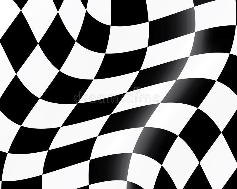 Checked racing flag stock illustration