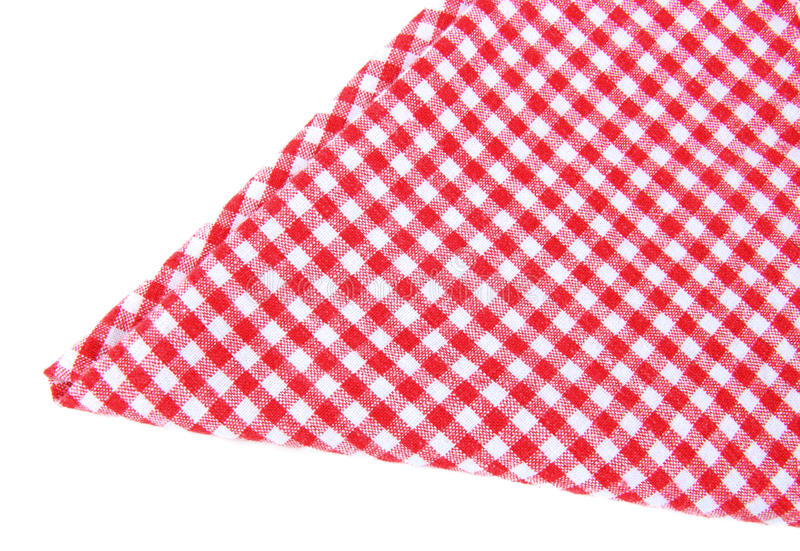 Checked Tea Towel Isolated Royalty Free Stock Image