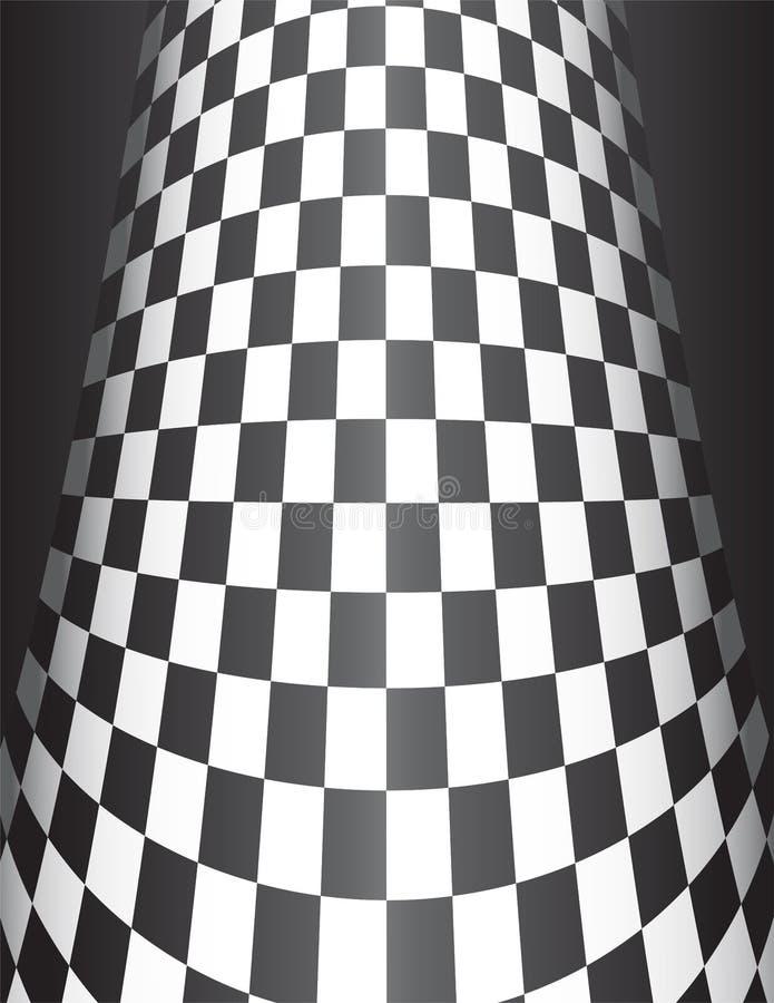 Download Checker Board Cone Background Stock Vector - Illustration of black, checkerboard: 8371124
