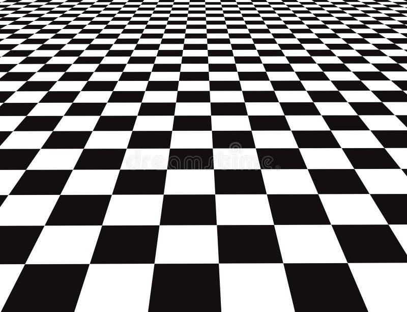 Checker floor royalty free illustration