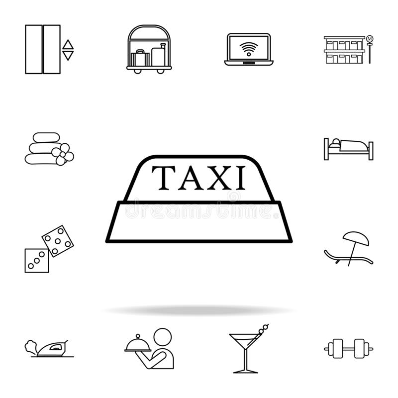 checker icon. hotel icons universal set for web and mobile vector illustration
