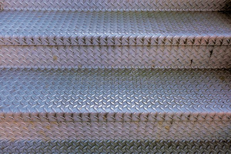 Checkerplate metal stairs; background pattern vector illustration