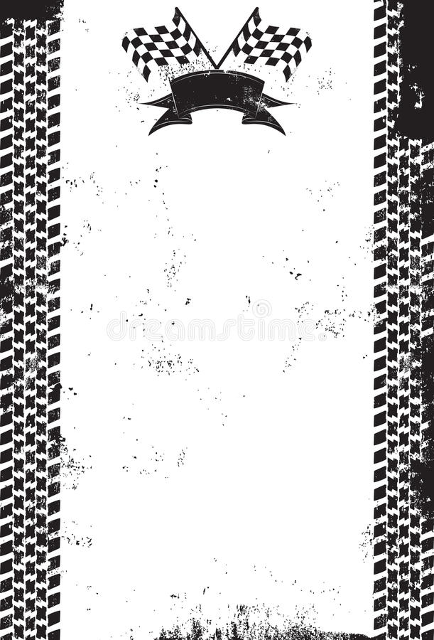Checker Racing Flag vector illustration