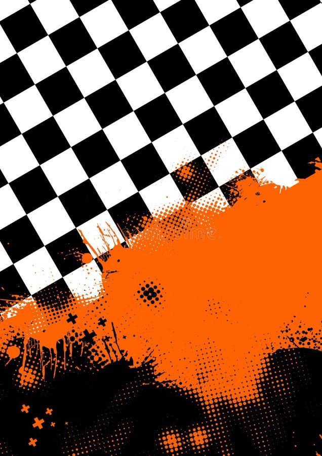 checkerboard πορτοκαλί χρώμα διανυσματική απεικόνιση