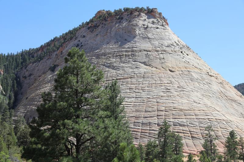 Download Checkerboard Mesa In Zion National Park Stock Image - Image of granite, nature: 106323867