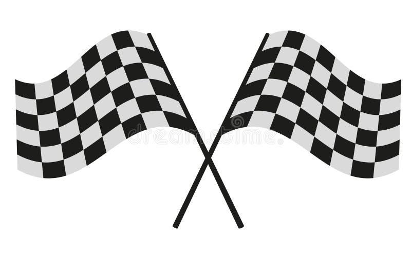 Checkered гонки флага стоковое изображение
