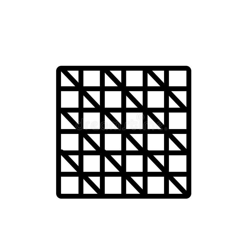Checkered знак и символ вектора значка изолированные на белой предпосылке, Checkered концепции логотипа иллюстрация вектора