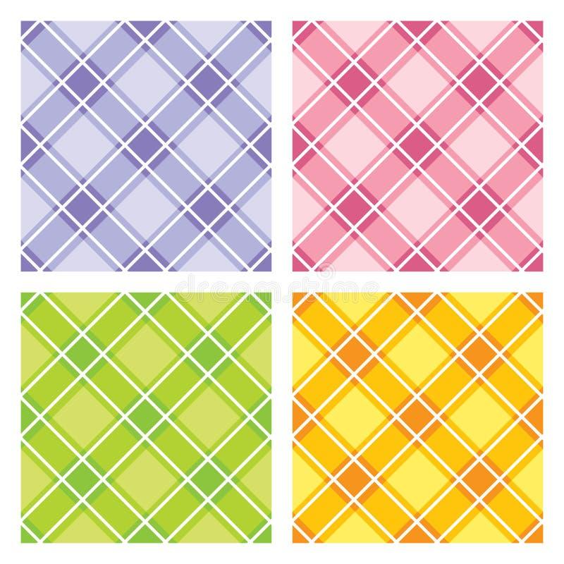 checkered картина безшовная стоковые изображения rf