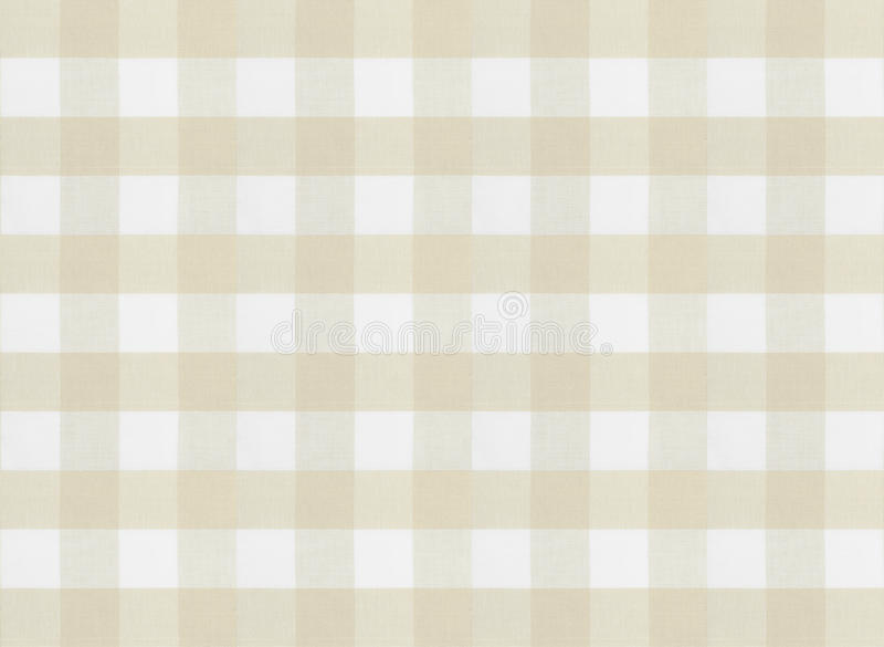 Checkered коричневые скатерть или текстура ткани стоковые изображения
