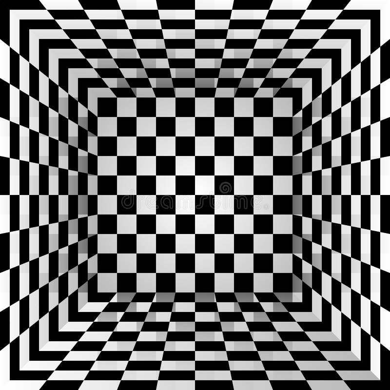 Checkered коробка текстуры абстрактная предпосылка также вектор иллюстрации притяжки corel иллюстрация вектора