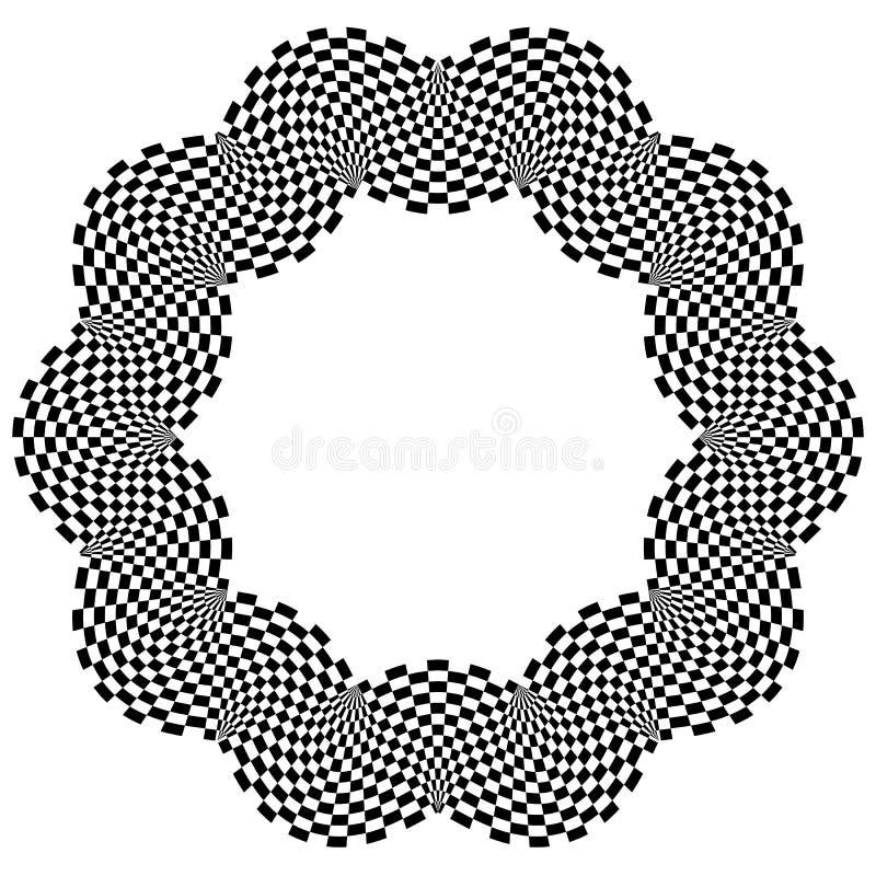 Download Checkered круговой элемент Абстрактный Monochrome график с Squ Иллюстрация вектора - иллюстрации насчитывающей чередуя, изолировано: 81814788