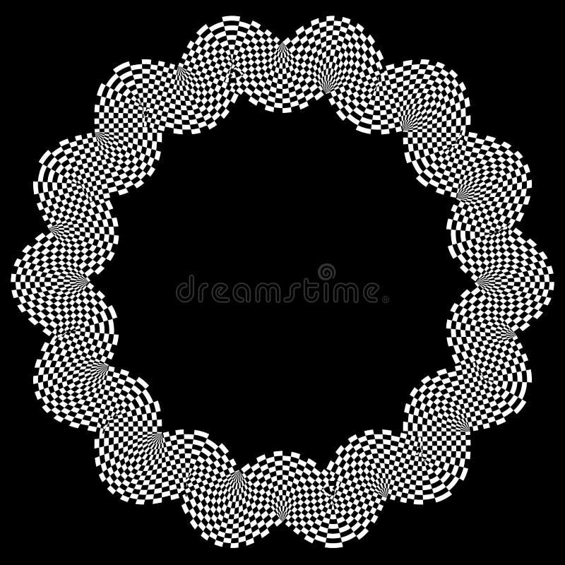 Download Checkered круговой элемент Абстрактный Monochrome график с Squ Иллюстрация вектора - иллюстрации насчитывающей абстракции, pepita: 81814813