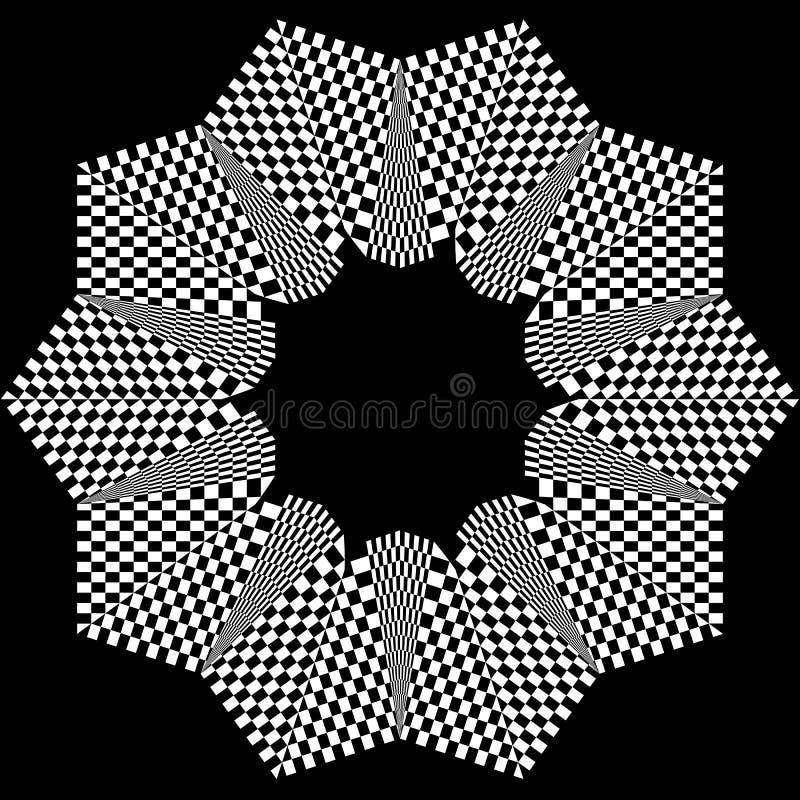 Download Checkered круговой элемент Абстрактный Monochrome график с Squ Иллюстрация вектора - иллюстрации насчитывающей график, boris: 81814825