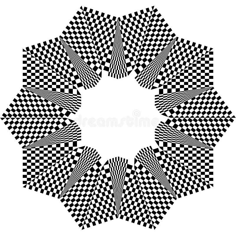 Download Checkered круговой элемент Абстрактный Monochrome график с Squ Иллюстрация вектора - иллюстрации насчитывающей свободно, chequered: 81814842